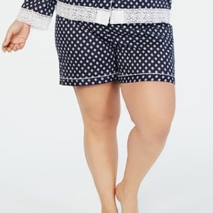 Charter Club Plus Size Printed Cotton Pajama Short